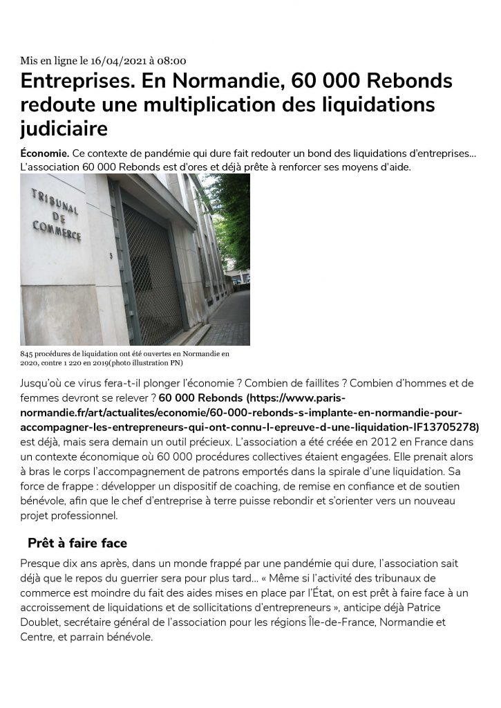 Article Paris Normandie.fr page 1